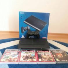CONSOLA SONY PS3 SUPERSLIM 500 GB, CU PATRU JOCURI - PlayStation 3