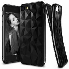 Husa Protectie Spate Ringke Prism Ink Black plus folie protectie display pentru Apple iPhone 7 - Husa Telefon