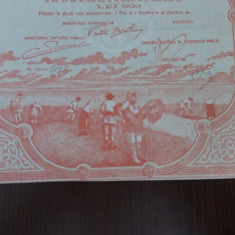 Obligatiune Romania, Renta improprietaririi 10000 lei, 1922, 5%