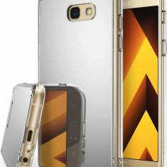 Husa Protectie Spate Ringke Mirror Silver plus folie protectie display pentru Samsung Galaxy A5 2017 - Husa Telefon