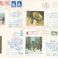 Bnk ip Lot 5 intreguri postale 1975 - circulate - Pictura Andreescu, Dupa 1950