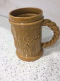 Halba de bere veche, ceramica romaneasca