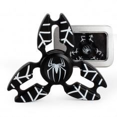 Jucarie Metalica Anti-Stres Fidget Spinner Triunghi Spiderman