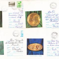 Bnk ip Lot 4 intreguri postale 1973 - circulate - Tezaurul de la Pietroasa, Dupa 1950