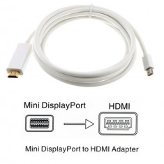 Cablu adaptor Mini DisplayPort / Thunderbolt la HDMI pt Apple Macbook iMac - 3m