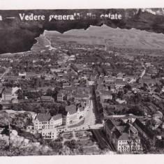 DEVA VEDERE GENERALA DIN CETATE CIRCULATA 1942 CENZURAT DEVA CENZOR NR. 25 - Carte Postala Transilvania dupa 1918, Printata