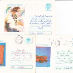 Bnk ip Lot 7 intreguri postale 1976 - circulate - Pompierfila, Dupa 1950