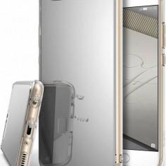 Husa Protectie Spate Ringke Mirror Silver plus folie protectie display pentru Huawei P10