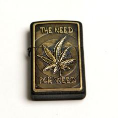 Bricheta model - Zippo - The Need For Weed - cannabis - Bricheta Zippo
