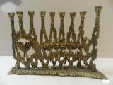 Menora Hanuka sfesnic evreiesc cu 9 brate bronz
