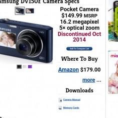 Aparat foto compact Samsung (de buzunar), nou, 16.2 megapixeli, 5x2 zoom - Teleconvertor Obiectiv Foto