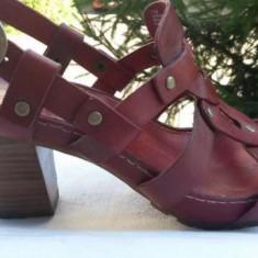 Sandale dama piele naturala TIMBERLAND nr.38 originale, Culoare: Rosu