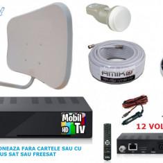 Antena tv rulota, camping, cabane 12 volti