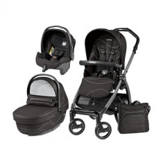 Carucior 3 in 1 Book Plus 51 Black Sportivo Bloom Bloom Black - Carucior copii 2 in 1 Peg Perego