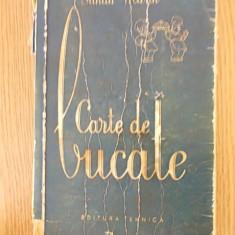 SANDA MARIN, CARTE DE BUCATE. 1956 - Carte Retete traditionale romanesti
