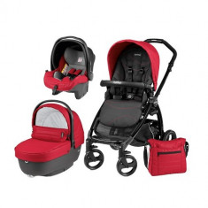 Carucior 3 in 1 Book Plus Black Matt Sportivo Bloom Bloom Red - Carucior copii 2 in 1 Peg Perego