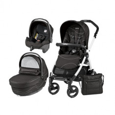 Carucior 3 in 1 Book Plus 51 Black&White Sportivo Bloom Bloom Black - Carucior copii 2 in 1 Peg Perego