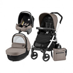 Carucior 3 in 1 Book Plus 51 S Black&White Sportivo Bloom Bloom Beige - Carucior copii 2 in 1 Peg Perego