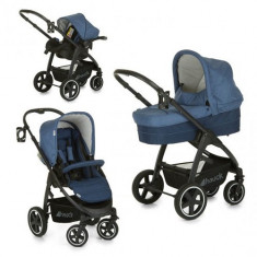 Set Carucior Soul Plus Trio Set Melange Navy - Carucior copii 2 in 1 Hauck