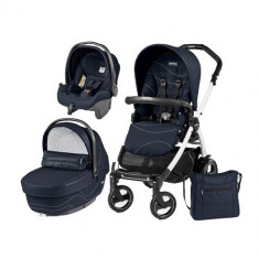 Carucior 3 in 1 Book Plus 51 Black&White Sportivo Bloom Bloom Navy - Carucior copii 2 in 1 Peg Perego