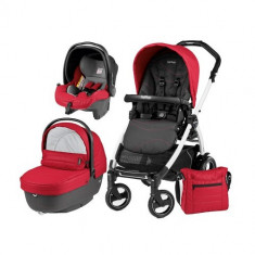 Carucior 3 in 1 Book Plus 51 Black&White Sportivo Bloom Bloom Red - Carucior copii 2 in 1 Peg Perego