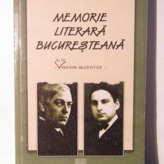 Corneliu Lupeș – Memorie literară bucureșteană - Carte Monografie
