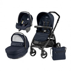 Carucior 3 in 1 Book Plus Black Matt Sportivo Bloom Bloom Navy - Carucior copii 2 in 1 Peg Perego