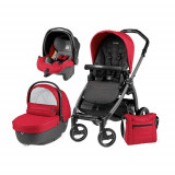 Carucior 3 in 1 Book Plus 51 Black Sportivo Bloom Bloom Red, Peg Perego