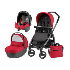 Carucior 3 in 1 Book Plus 51 Black Sportivo Bloom Bloom Red - Carucior copii 2 in 1 Peg Perego