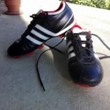 Ghete de Fotbal Adidas adiNova - Ghete fotbal Adidas, Marime: 38.5, Culoare: Negru