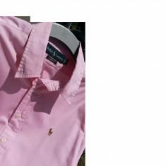 POLO RALPH LAUREN camasa barbati nr.XL originala, Culoare: Roz, Maneca lunga