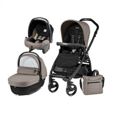 Carucior 3 in 1 Book Plus Black Matt Sportivo Bloom Bloom Beige - Carucior copii 2 in 1 Peg Perego