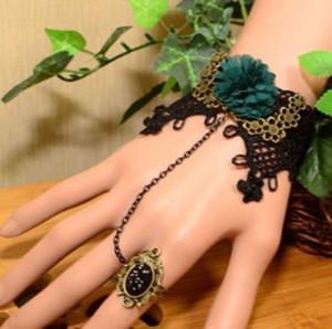 Set colier+bratara dantela model gotic victorian-modele diferite