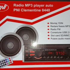 Radio MP3 player auto PNI Clementine 8440 1 DIN, SD, USB - CD Player MP3 auto