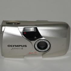 Olympus Mju II - Olympus Lens 35mm F2.8 - Transport gratuit prin posta! - Aparat Foto cu Film Olympus