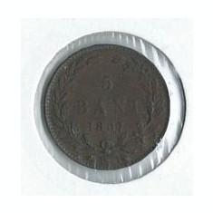 252- 5 Bani 1867 - Moneda Romania