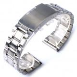 BRATARA CEAS Metalica INOX-Curea-NOU 2018- LATIME 20mm CALITATEA 1-SIGURANTA - Curea ceas din metal