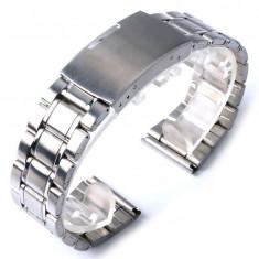 BRATARA CEAS Metalica INOX-Curea-NOU 2017-2 Dimensiuni 20mm SAU 22mm CALITATEA 1 - Curea ceas din metal