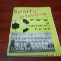 Brosura     Sportul   Aradean 1975