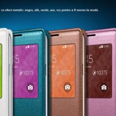 Husaflip cu s view active Samsung Galaxy S5 roz - Husa Telefon