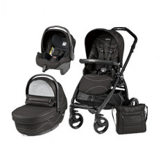 Carucior 3 in 1 Book Plus Black Matt Sportivo Bloom Bloom Black - Carucior copii 2 in 1 Peg Perego