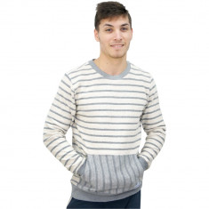Bluza tricotata gri cu maneca lunga pentru barbati, Mills Brothers