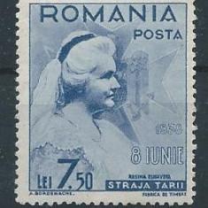 DEPARAIATE-1938 Romania, LP 126 h a-Straja Tarii-Voivozi, VAL 7, 5 LEI -MNH - Timbre Romania, An: 1935, Regi, Nestampilat