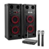 Sistem de karaoke STAR-Wedding, set de boxe, 2 microfon, 600 W - Echipament karaoke