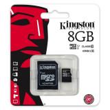 Card de Memorie Kingston Micro SDHC 8GB Clasa 10, UHS-I, ver G2 + Adaptor SD
