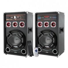 SET 2 BOXE DJ CU 2 MICROFOANE WIRELESS DJ-220 - Echipament karaoke