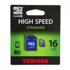 MICRO SD CARD 16GB CU ADAPTOR TOSHIBA - Card Micro SD