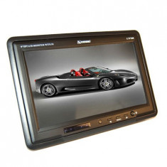 DISPLAY TFT 9 INCH COUGAR + IR + SUPORT - Monitor Auto