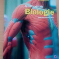 Memorator Biologie. Clasa a XI-a - Teste Bacalaureat booklet