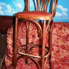 Scaune din lemn inalte pentru bar, 5 bucati.